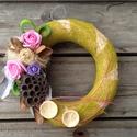 AKCIÓ!! Virágos dísz4., Dekoráció, Otthon, lakberendezés, Virágkötés, Különleges virágos dekorációt kínálok eladásra, ami egy akasztónak köszönhetően akár kitűnő vendégf..., Meska