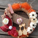 AKCIÓ!! Virágos dísz5., Dekoráció, Otthon, lakberendezés, Virágkötés, Különleges virágos dekorációt kínálok eladásra, ami egy akasztónak köszönhetően akár kitűnő vendégf..., Meska