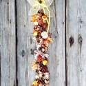 Őszi ajtódekor 3., Dekoráció, Dísz, Virágkötés, Kivételesen nem kopogtatót, hanem egy hosszú, ajtófüggőt kínálok eladásra.  60 cm hosszú, de kérésr..., Meska