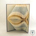 Hal mintájú hajtogatott könyv origami - Keresztény - Vallásos - állatbarátoknak - E197, Dekoráció, Otthon, lakberendezés, Mindenmás, Dísz, Papírművészet, Hajtogatott könyv vagy más néven könyv origami.   ****ALAP INFORMÁCIÓK**** A hajtogatott könyv ideá..., Meska