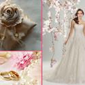 Szatén ekrü gyűrűpárna, Esküvő, Gyűrűpárna, Varrás, Ekrü színű szatén gyűrűpárnát készítettem, rózsával és horgolt szalaggal.  A párna mérete 15,5 x 15..., Meska
