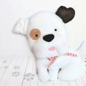 AKCIÓ!!! Folti kutya, Játék, Dekoráció, Karácsonyi, adventi apróságok, Baba-mama-gyerek, 30 cm magas, puha kutya. Hűséges barát. Mosógépben mosható., Meska
