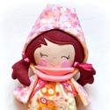 Hanna, öltöztethető textil baba, Baba-mama-gyerek, Játék, Dekoráció, Baba, babaház, Baba-és bábkészítés, Varrás, Öltöztethető 35 cm magas textil baba.  Minden ruhadarabja levehető.  Egy kis kezeslábas, cipő, kétf..., Meska