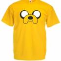 Adventure Time, Kalandra fel, Jake mintás póló, Ruha, divat, cipő, Férfi ruha, Női ruha, Felsőrész, póló, Festett tárgyak, Egyedi kérésre készítjük,  az általad választott fazonú (női, férfi, gyerek), színű és méretű pólór..., Meska
