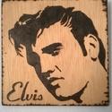 Elvis Presley prografkép, Dekoráció, Képzőművészet, Mindenmás, Otthon, lakberendezés, Famegmunkálás, Mindenmás, Ez az Elvis Presley kép pirográf technikával készűlt, 5 mm szélességű rétegelt, préselt fa lapra. A..., Meska