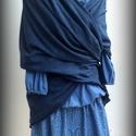 """""""Pixi"""" kékmintás tündérszoknya, Ruha, divat, cipő, Női ruha, Szoknya, Varrás, Kék apró mintás 100 % pamuttartalmú amerikai vászonból készítettem ezt a sűrűn rakott szoknyát.  El..., Meska"""