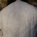 Szakrális férfi ing Nap-Hold motívummal , Férfiaknak, Magyar motívumokkal, Konyhafőnök kellékei, Hímzés, Varrás, Egy minden szempontból tökéletesen megtervezett, megszerkesztett inget készítettem, melynek hátára ..., Meska