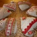 6 db textil szív a skandináv vidéki hangulat jegyében, Dekoráció, Otthon, lakberendezés, Dísz, Lakástextil, Ha szereted a természetes anyagokat, és a skandináv vidéki hangulatot, akkor neked ajánlom ezek..., Meska
