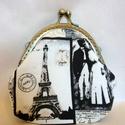 Párizsi nosztalgia csatos pénztárca , Táska, Pénztárca, tok, tárca, Pénztárca, Erszény, Varrás, A romantikus és vintage dolgok kedvelőinek ajánlom ezt a részben kézzel varrt, párizsi nosztalgia m..., Meska