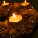"""""""Igazgyöngy és elefántcsont"""" - mécseses adventi koszorú - RENDELHETŐ!, Dekoráció, Otthon, lakberendezés, Karácsonyi, adventi apróságok, Karácsonyi dekoráció, Mindenmás, Virágkötés, (Mivel a dísz rendelésre készül és az elkészítési idő hosszú (akár 1-2 hét, Karácsony közeledtével ..., Meska"""