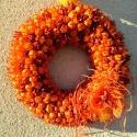 """""""Rozsdás narancs""""  , Otthon, lakberendezés, Dekoráció, Dísz, Mindenmás, Virágkötés, Amikor megláttam ezt a narancsszínű borzaskatát, és a polcon közvetlenül mellette lévő rozsdabarnát,..., Meska"""
