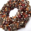 Havas-gyöngyös koszorú - RENDELHETŐ!, Dekoráció, Otthon, lakberendezés, Karácsonyi, adventi apróságok, Karácsonyi dekoráció, Mindenmás, Virágkötés, (Megrendelhető!  Az elkészítési idő hosszú lehet (akár 1-2 hét) és Karácsony közeledtével egyre hos..., Meska