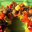 """Sütőtök napsugárral - őszi koszorú RENDELHETŐ!, Dekoráció, Otthon, lakberendezés, Mindenmás, Virágkötés, (Még egy koszorúnyi tök áll rendelkezésemre.)  A levelek és tökök sárgáit juta-csokrocskákkal """"napo..., Meska"""