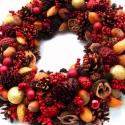 Bordeaux - karácsonyi koszorú - RENDELHETŐ!, Dekoráció, Karácsonyi, adventi apróságok, Ünnepi dekoráció, Dísz, Virágkötés, Mindenmás, Kérésre szívesen elkészítem újra.  Azért kapta a híres borvidékről a nevét ez a koszorú, mert a vör..., Meska