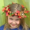 Erdőtündér fejkoszorú, Dekoráció, Baba-mama-gyerek, Játék, Mindenmás, Virágkötés, Kislányom ötlete alapján készítettem ezt a koszorút. Varázslény-vonzalma korlátlan, volt már tavasz..., Meska