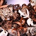 Őzike - barna pettyes terméskoszorú, Dekoráció, Otthon, lakberendezés, Dísz, Mindenmás, Virágkötés, Ennél a koszorúnál az önmagukban is barna-fehér márványos, mintás termések élveznek előnyt, a kis k..., Meska