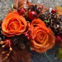 Lomb - koszorú :), Otthon, lakberendezés, Dekoráció, Dísz, Mindenmás, Virágkötés, Színesednek az első fák! Sajnos valódi levelekből ritkán készítek koszorút, mert kiszáradva sérülék..., Meska