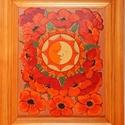 Tűzzománc kép , Képzőművészet, Dekoráció, Kép, Tűzzománc, Festészet, A zománc mérete: 250mmx200mm. A keret fa 25mm széles. Teljes mérete:330mmx280mm., Meska