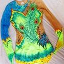 Festett versenydressz, Ritmikus Gimnasztika, Ruha, divat, cipő, Gyerekruha, Gyerek (4-10 év), Kamasz (10-14 év), Festészet, Gyöngyfűzés, Ritmikus Gimnasztika, fitness, műkorcsolya, tánc művészet versenydresszeinek festésével és kövezésé..., Meska