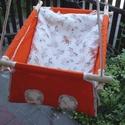 100 % pamut narancs-unicornis, Baba-mama-gyerek, Játék, Kerti játék, Famegmunkálás, Varrás, Erős vászonból készül ez a baba hinta, mely születéstől használható 25 kg-ig.  NAGY MÉRETŰ!!! Így n..., Meska