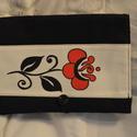 Kézzel festett, lenvászonból készült tablet tok, Baba-mama-gyerek, Ruha, divat, cipő, Táska, Varrás, Festészet, Kézzel festett, egyedi mintájú, lenvászonból készült tablet tokok mókás mintákkal., Meska