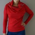 ARKA táskapulcsi, piros, női, Ruha, divat, cipő, Női ruha, Kabát, Táskává alakítható kámzsanyakú pulcsi.   Pulcsiként viselheted, ha hűvös az idő, és táskává alakítha..., Meska
