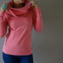 ARKA táskapulcsi, pink ÚJ FAZON, Ruha, divat, cipő, Női ruha, Kabát, Új pink táskapulcsi:  Új, raglán ujjú pulcsi. A megszokotthoz képest testhezállóbb a felső részénél...., Meska