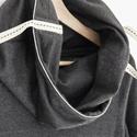 táskapulcsi, sötétszürke TP2015, Ruha, divat, cipő, Női ruha, Kabát, Táskává alakítható kámzsanyakú pulcsi.   Pulcsiként viselheted, ha hűvös az idő, és táskává alakítha..., Meska