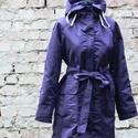 Lila esőkabát LEÉRTÉKELÉS!!!, Ruha, divat, cipő, Női ruha, Kabát, Szezonvégi leértékelés!!  Vízálló anyagból készült kapucnis esőkabát. Ha nem kell már, a kapucnijába..., Meska
