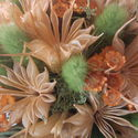 Tavaszi hangulat, Dekoráció, Dísz, Virágkötés, Tavaszi hangulata van ennek a parafába készült összeállításnak. Mérete:14*16, Meska