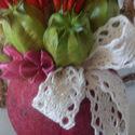 Szárazvirág csipkével, Dekoráció, Dísz, Virágkötés, Tökéletes Nőnapi ajándék lehet,olyan hölgynek,aki szereti a száraz virágot.Maradandó és különleges,..., Meska