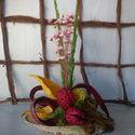 Vidám, színes asztaldísz, Dekoráció, Dísz, Virágkötés, A tavasz vidám színeit fogja össze az a kis dísz.Nőnapra,névnapra egy szál virág helyett kreatív,ma..., Meska