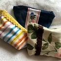 Pipere táskák, Táska, Szépségápolás, Neszesszer, Varrás, Vidám, csipkés vagy hímzett pipere táskák, egyedi igények szerint is. A táskák pamutvászonból készü..., Meska