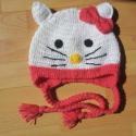 Hello Kitty sapi, Ruha, divat, cipő, Kendő, sál, sapka, kesztyű, Sapka, Horgolás, Igazi trendi,kislány sapka,melynek  ott kell lennie,gyermeke ruhatárában! Tavaszra bélés,kötő illetv..., Meska