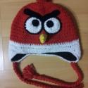 Angry Birds (Red ) sapka, Ruha, divat, cipő, Kendő, sál, sapka, kesztyű, Sapka, Horgolás, Igazi trendi őszi,téli vagy tavaszi viselet. Tavaszra bélés,kötő illetve fülvédő nélkül is készülhe..., Meska