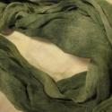 Körsál/ csősál gézből MENTA, Ruha, divat, cipő, Kendő, sál, sapka, kesztyű, Varrás, Tavasziasan zöld (menta) színűre festett pamutgézből varrtam ezt a körsálat. Dupla, cső, nagyon dús,..., Meska
