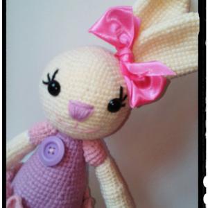 Bella balerina - amigurumi nyuszi, Játék & Gyerek, Plüssállat & Játékfigura, Nyuszi, Horgolás, Horgolt nyuszi csajszi. A szemei biztonsági szemek. Mérete: kb 28 cm a feje búbjáig, a füleivel kb ..., Meska