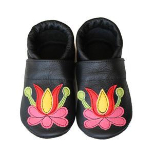 Hopphopp puhatalpú cipő - Matyó V., Ruha & Divat, Babacipő, Babaruha & Gyerekruha, Varrás, A cipők természetes, puha, minőségi bőrből készülnek, melyek ideálisak a járni tanuló babáknak, vag..., Meska
