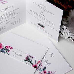 Esküvői meghívó, Esküvő, Meghívó, Meghívó & Kártya, Fotó, grafika, rajz, illusztráció, Papírművészet, Kinyitható formájú, vidám, de elegáns hangulatú meghívó.  Mérete 14x14 cm.  Rendelhettek hasonló st..., Meska