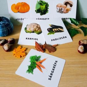 Zöldségek tanulókártya, Játék & Gyerek, Készségfejlesztő & Logikai játék, Fotó, grafika, rajz, illusztráció, Varrás, mini PAKLI – Tanulókártya kicsiknek 1-6 éves korig ajánlott.  A kártyákon szereplő képek segítenek ..., Meska