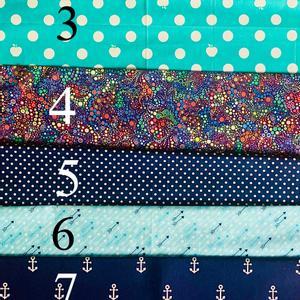 O bag táska belső - Kék színek, Táska & Tok, Táskapánt & Alkatrész, Varrás, Készleten lévő kék minták.  Obag táskához készült egyedi belső dizájner amerikai pamut anyagból. Be..., Meska