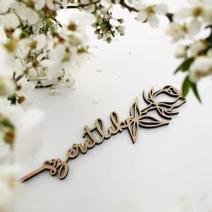 Anyák napi ajándék rózsa - szeretlek felirattal, Otthon & Lakás, Dekoráció, Famegmunkálás, Adj maradandó emléket Anyák napjára, kedveskedj virággal. :)  Feliratot is kérhetsz a virág hátuljá..., Meska