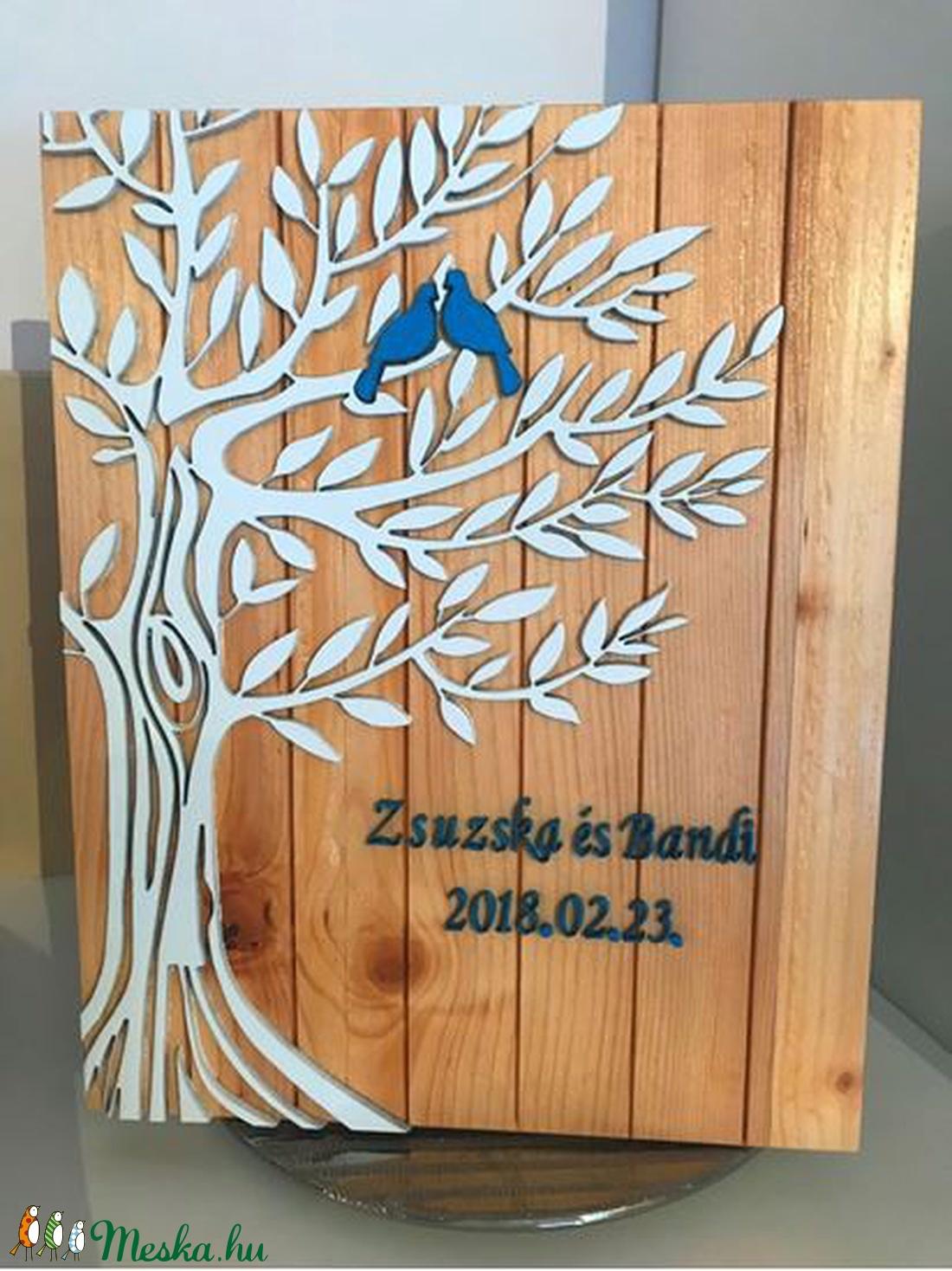 Nászajándék-a boldogság kék madara kép (3Dfamuves) - Meska.hu