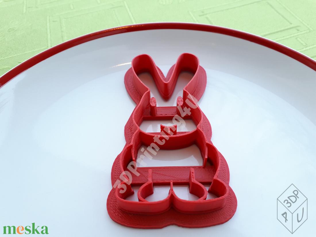 Tapsifüles Nyuszi sütikiszúró süteménykiszúró mézeskalács linzer keksz forma 3D nyomtatás húsvét kiszúró ajándék  - otthon & lakás - konyhafelszerelés - sütikiszúró - Meska.hu