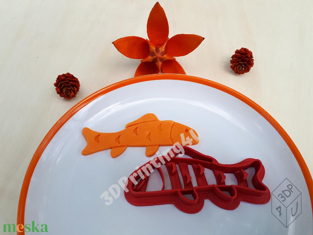 Ponty sütikiszúró süteménykiszúró mézeskalács linzer keksz mézeskalácsszaggató  horgász horgászat 3D nyomtatás kiszúró - otthon & lakás - konyhafelszerelés - sütikiszúró - Meska.hu