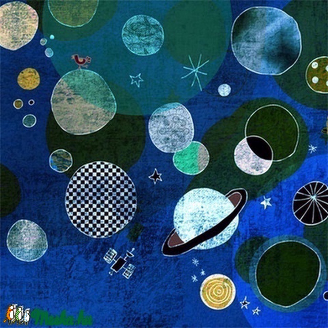 Bolygók - kék nyomat (schalleszter) - Meska.hu