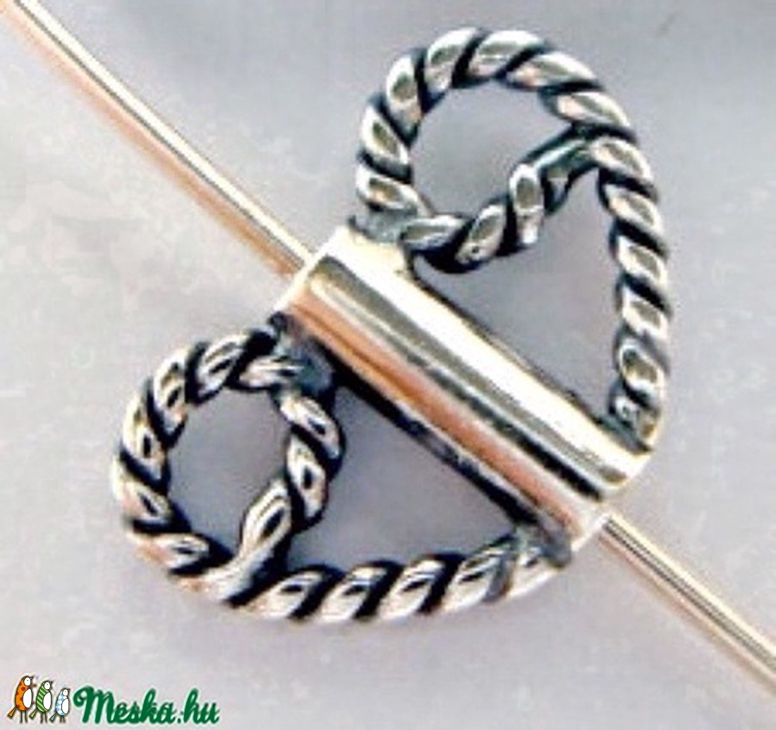 925-ös  antikolt (bali)   ezüst köztes / gyöngy / díszitőelem EKÖ 31  2db/csomag - gyöngy, ékszerkellék - fém köztesek - Meska.hu