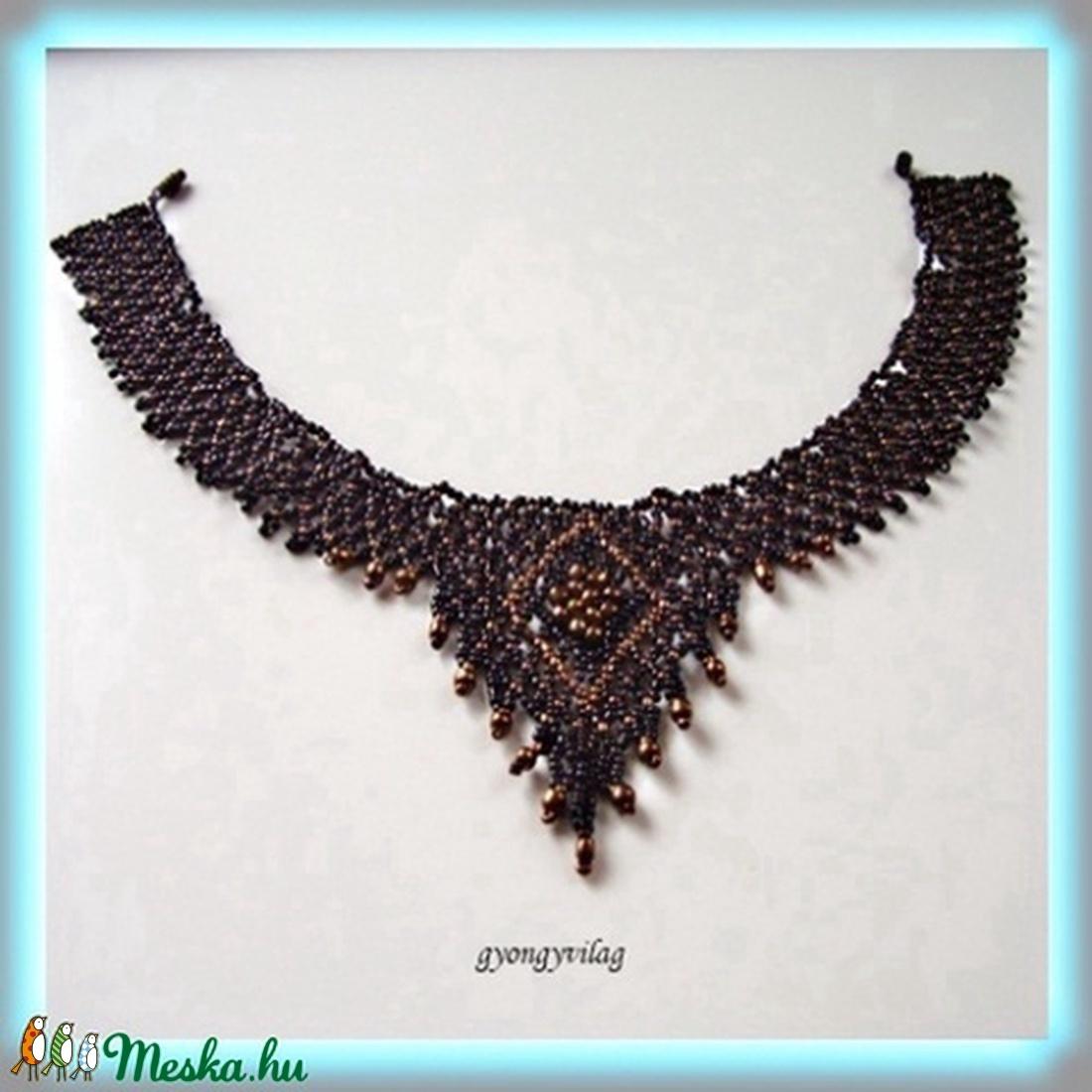 Kásagyöngyből készült nyakék. SL-GY03 - ékszer - nyaklánc - gyöngyös nyaklác - Meska.hu