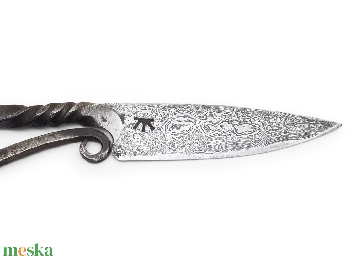 Damaszkolt nomád kés rózsadamaszk pengével , [K_01d] - otthon & lakás - konyhafelszerelés - kés & késtartó - Meska.hu