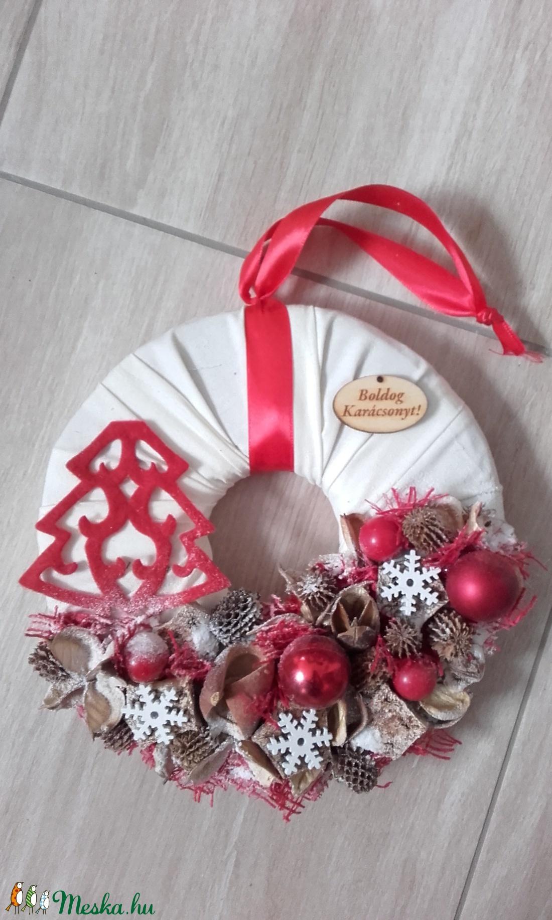 KARÁCSONYI FENYŐ karácsonyi-adventi KOPOGTATÓ AJTÓDÍSZ - karácsony & mikulás - adventi koszorú - Meska.hu